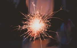 Preview wallpaper Holiday, fireworks, sparks, glare