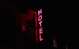 Preview wallpaper Hotel signboard light