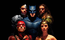 Preview wallpaper Justice League, superheroes, 2017 movie