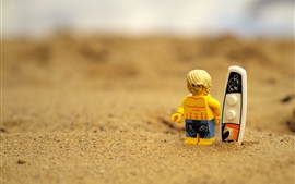Preview wallpaper Lego toy, beach
