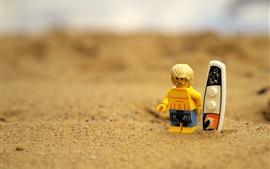 Lego brinquedo, praia