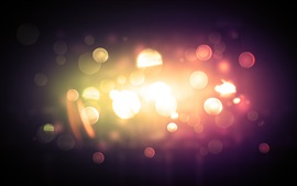 Aperçu fond d'écran Cercles de lumière, éblouissement, nuit