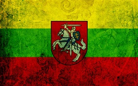 Preview wallpaper Lithuania flag, texture