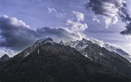 Preview wallpaper Mountains, clouds, sky, nature landscape