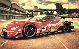 Preview wallpaper Nissan race car side view