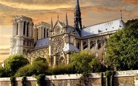 Дворец, здания, облака, сумерки, Париж