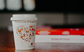 Preview wallpaper Paper cup, coffee