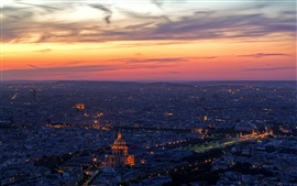 Preview wallpaper Paris, top view, night, France