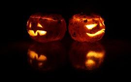 Aperçu fond d'écran Lampes de citrouilles, halloween