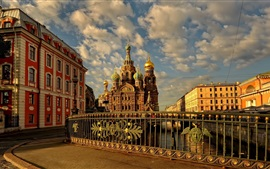 Preview wallpaper Russia St Petersburg, street, city, buildings