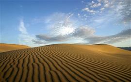 Aperçu fond d'écran Désert du Sahara, sables, nuages