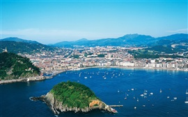 San Sebastian, city, island, sea, Spain
