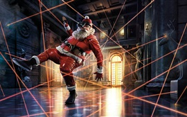 Preview wallpaper Santa Claus, locking, hall, art picture