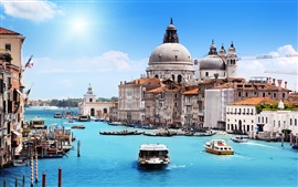 Preview wallpaper Santa Maria della Salute, Venice, Italy, river