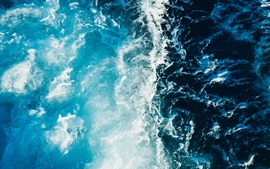 Preview wallpaper Sea, waves, foam, top view