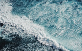 Vorschau des Hintergrundbilder Meer, Wellen, Ansicht von oben