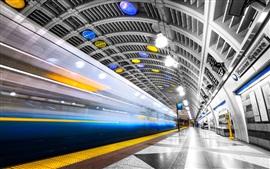 Seattle, subway, lights, USA