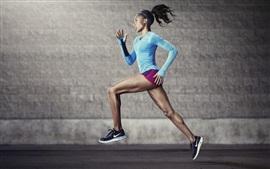 Preview wallpaper Sport, running girl