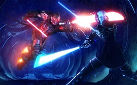 Preview wallpaper Star Wars, video games, lightsaber
