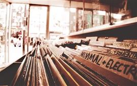 Tienda, grabar, estilo retro
