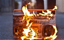 Tape recorders burning