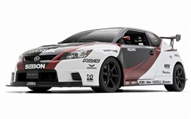 Preview wallpaper Toyota Scion sports car, white background