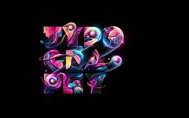 Aperçu fond d'écran Typographie, coloré, dessin abstrait
