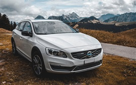 Preview wallpaper Volvo white car front view