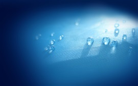Water drops, cloth, light, blue