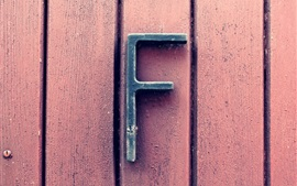 Preview wallpaper Wooden background, letter F