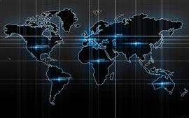 Preview wallpaper World Map, digital design