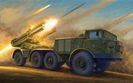 壁紙のプレビュー 9K57ハリケーンロケット大砲