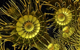 Preview wallpaper Abstract gold flowers