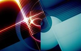 Patrón abstracto, círculo, luz