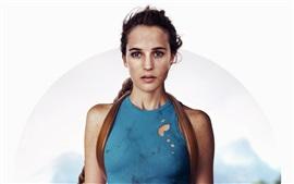 Preview wallpaper Alicia Vikander, Tomb Raider, Lara Croft
