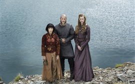 Preview wallpaper Alyssa Sutherland, Travis Fimmel, Dianne Doan, The Vikings