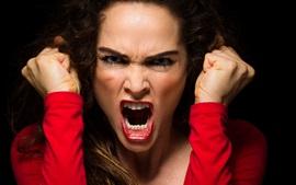 Mulher irritada
