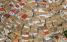 Preview wallpaper Apulia, Foggia, Italy, houses, city, top view