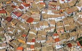 Апулия, Фоджа, Италия, дома, город, вид сверху