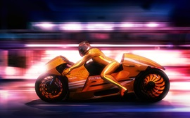 Preview wallpaper Art design, motorcycle, speed