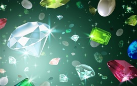 壁紙のプレビュー アートドローイング、ダイヤモンド、輝き