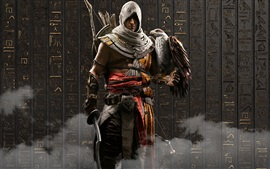 Preview wallpaper Assassin's Creed: Origins, eagle, Ubisoft games