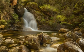 Preview wallpaper Australia, Victoria, waterfall, stream, stones
