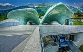 Aperçu fond d'écran Autriche, Innsbruck, Hungerburgbahn, funiculaire, gare