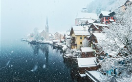 Preview wallpaper Austria, village, snowy