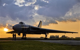 Preview wallpaper Avro Vulcan, bomber, airfield, dawn