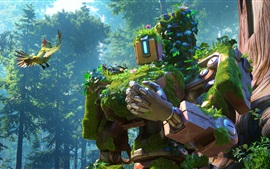 Preview wallpaper Bastion, robot, cyborg, Overwatch