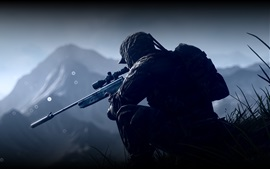 Preview wallpaper Battlefield 4, soldier, sniper