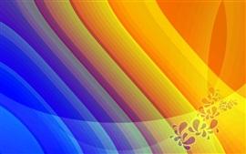 Aperçu fond d'écran Belles lignes de motifs, couleurs vives