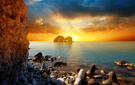 Preview wallpaper Beautiful sea sunset